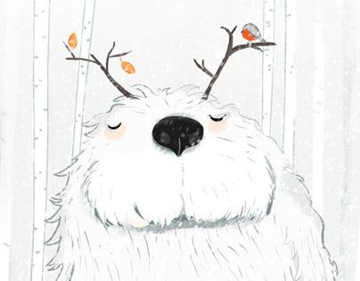 Christmas card starring Yuri the yeti.