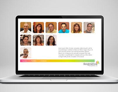 Fergráfica website layout