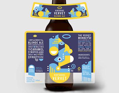 Beer Bottle Branding | Honest Monkey Brewery
