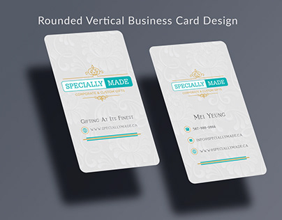 Rounded vertical business card design