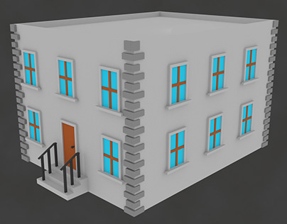 Low-poly Apartment Building