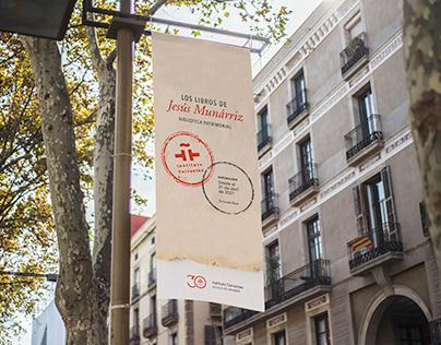 Diseño exposición «Los libros de Jesús Munárriz»