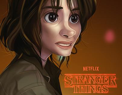 Stranger things fanart Joyce