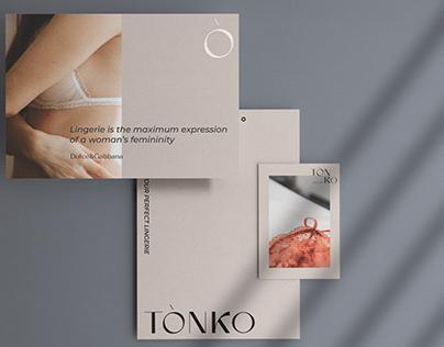 TONKO lingerie LOGO DESIGN