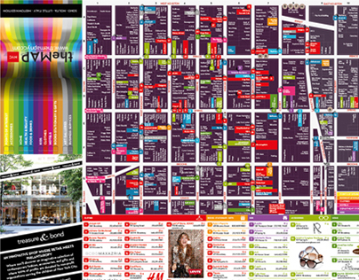 theMAP - Mapa publicitario publicado en New York