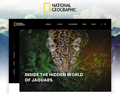 National Geographic - Concept Design Landing page
