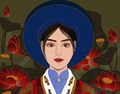 Girl & Flower / Phuong Thuy