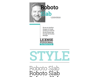 Roboto Slab | HAD TWO FONTS