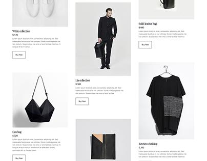 Minimal Design, E-commerce website