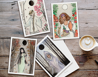 Hand-Illustrated Greeting Cards