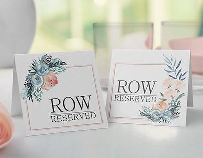 Floral Reservation Cards