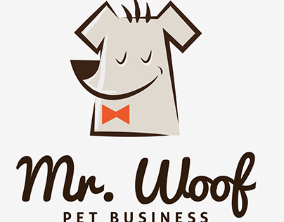 Mr.Woof is a clean and professional logo