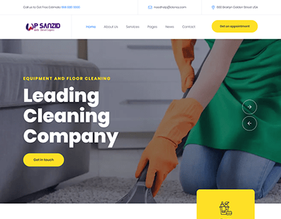 Cleaning services company website