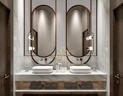 Fancy Guest bathrooms design