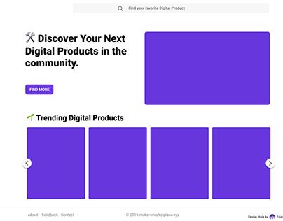 Makers Marketplace UI/UX Design Idea Version 1