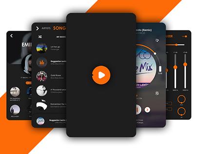 Vibe-Music player UI