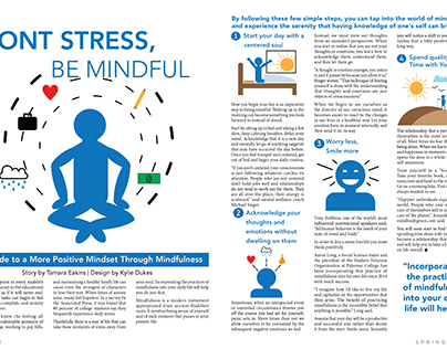 Impact Magazine Mindfulness layout
