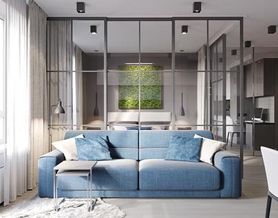 Apartment in Vilnius. Lithuania. Interior design.