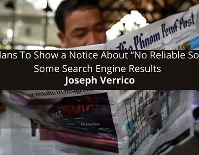 "Joseph Verrico: Google Plans To Show a Notice About ""No"