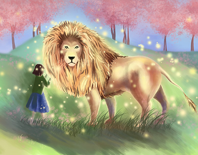 Aslan (Illustration for The Chronicles of Narnia)