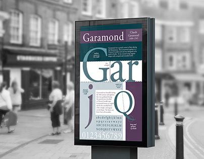 Font Poster - Garamond