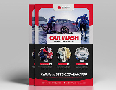 Car Wash Auto Repair Flyer