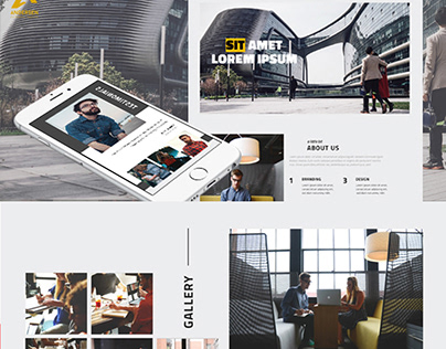 Multipurpose business template, HTML+PSD