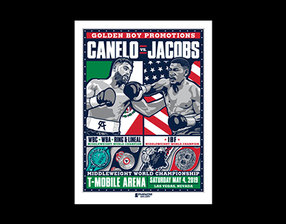 Canelo vs. Jacobs Championship Boxing Poster