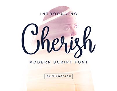 Cherish // Modern Script Font