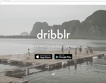 Dribblr Website - dribblrapp.com