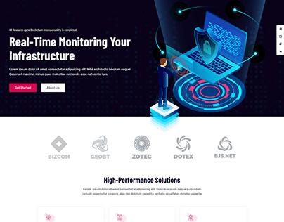 Cyber security website.
