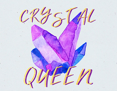 Crystals Watercolor & Inspirational Quotes