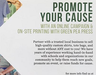 Green Pea Press Campaign Postcard