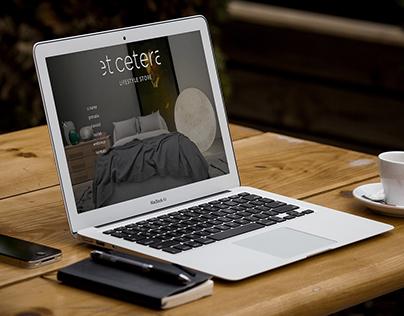 Et Cetera Lifestyle Store Website UI Design