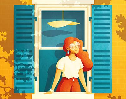 La Dame à la Fenêtre - Woman at the Window