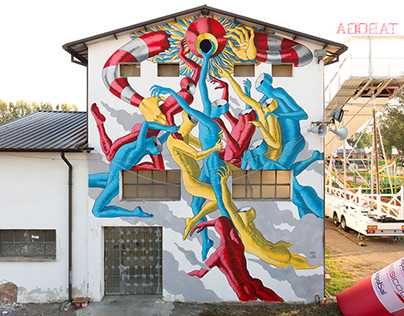 """""""Flying Circus"""" For Rosso Tiepido - Modena, Italy"""