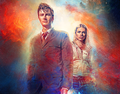 Doctor Who S2 Steelbook Digital Painting.