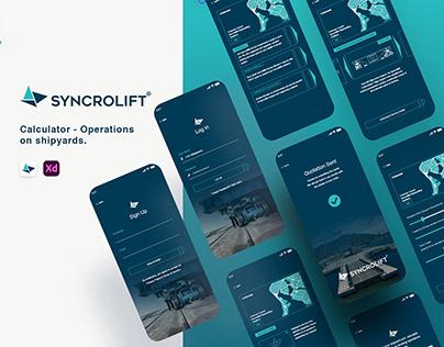 Syncrolift Mobile App UI/UX Design