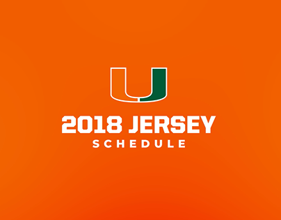2018 Miami Football Jersey Schedule Animation