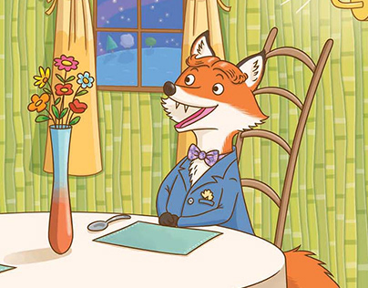 The fox and the stork for Cengage