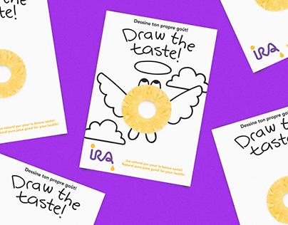 Ontwerp packaging en campagne voor sapfabrikant IRA