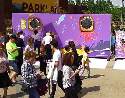 Milka mural + kids workshop