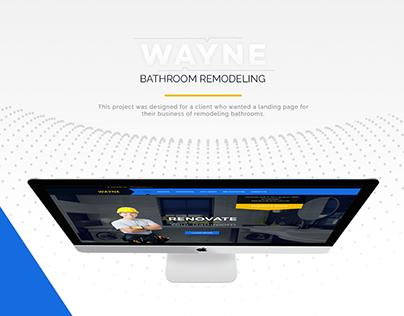 Landing Page Website - Bathroom Remodeling