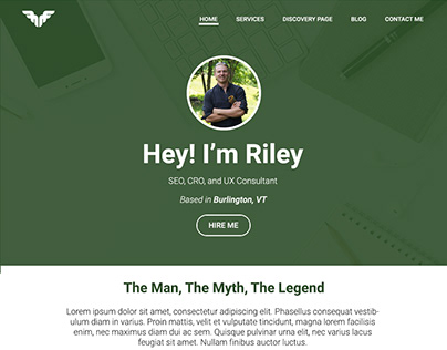 Riley Farabaugh Consulting Site Redesign | WIP