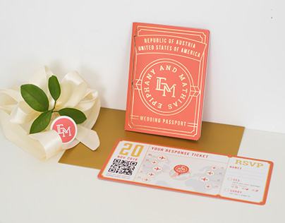 Wedding Invitation: Passport & Ticket