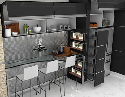 Mobiliario en Cocina moderna