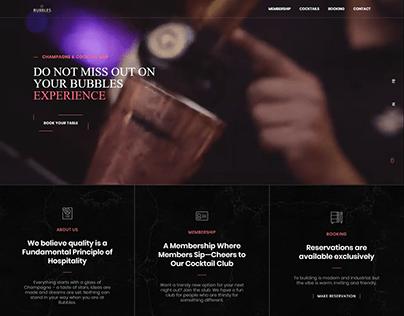 Bubbles Bar - A Denmark Based Cocktail Bar Website