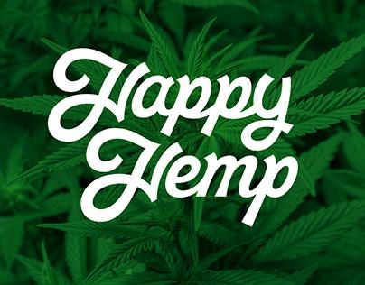 Happy Hemp custom lettering