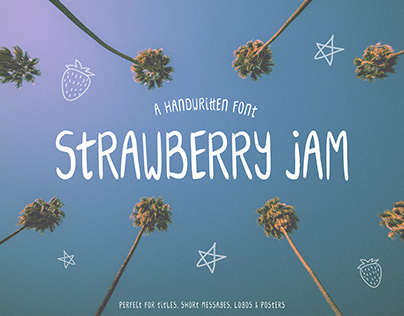 Strawberry Jam | Handwritten Font
