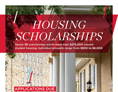 Housing Scholarships poster